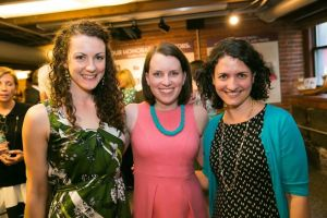 Catherine Riede, Nicole Young, and Judy tk (L to R)
